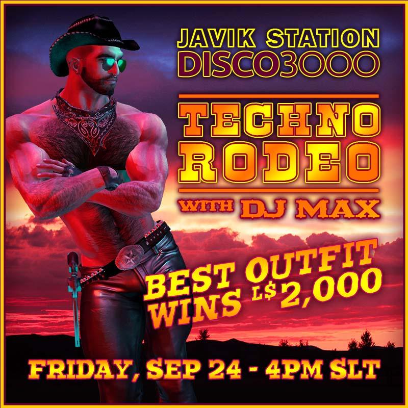 DISCO3000: TECHNO RODEO w/ DJ MAX!